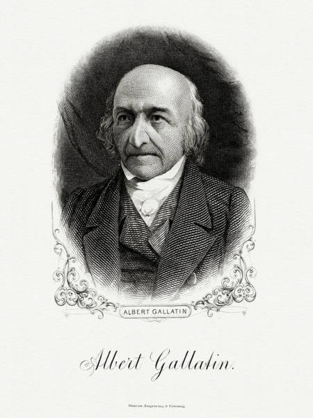 Matter Painting - Albert Gallatin by The Bureau of Engraving and Printing