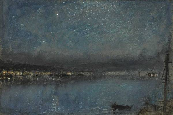 Painting - Albert Goodwin, R.w.s. 1845-1932 Stars Silent Over Us, The White Mans Grave, Sierra Leone by Albert Goodwin