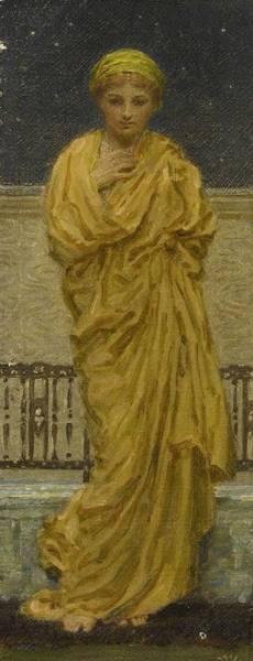 Painting - Albert Joseph Moore, A.r.w.s. 1841-1893 Stars by Albert Joseph Moore