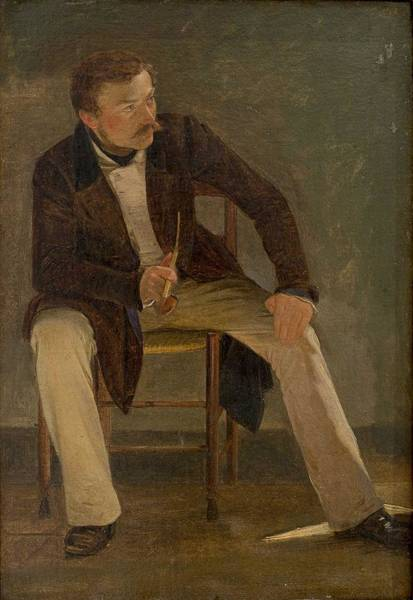 Painting - Albert Kuchler - The Painter Constantin Hansen by Albert Kuchler