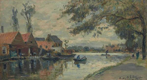 Painting - Albert Lebourg 1849-1928 Canal In Rotterdam by Albert Lebourg