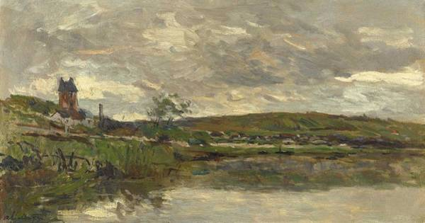Painting - Albert Lebourg 1849 - 1928 The Seaside Of The Seine In Vetheuil, Covered Time by Albert Lebourg