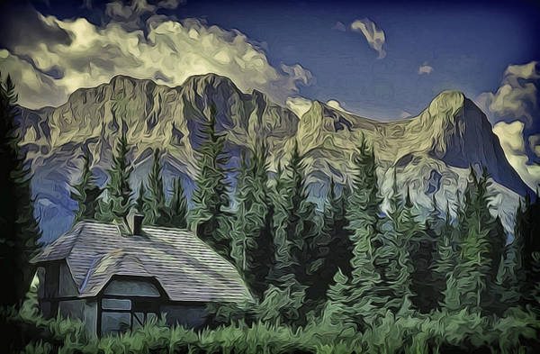 Digital Art - Alberta Mountain Scene by Richard Farrington