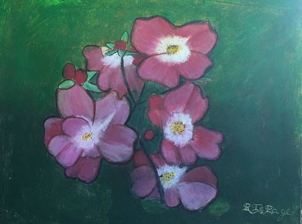 Pastel - Alberta Wild Rose by Richard Le Page