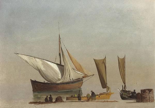 Delivery Truck Painting - Albert_bierstadt_-_fishing_boats by Albert Bierstadt
