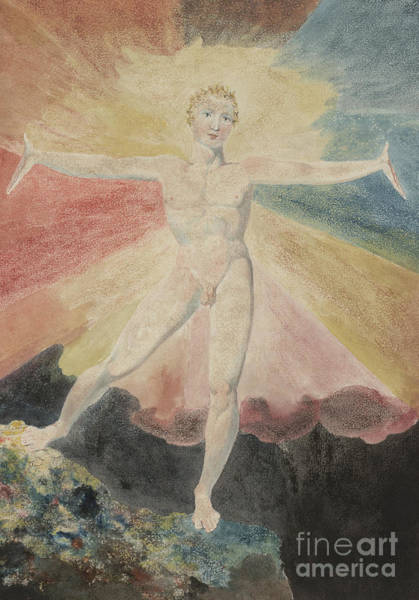 Male Nude Drawing - Albion Rose Or The Dance Of Albion by William Blake