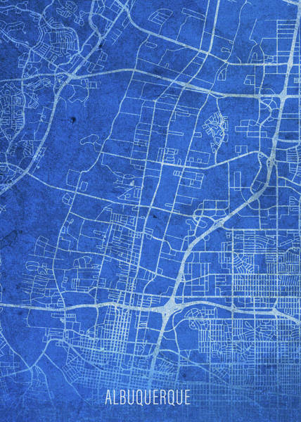 Wall Art - Mixed Media - Albuquerque New Mexico City Street Map Blueprints by Design Turnpike