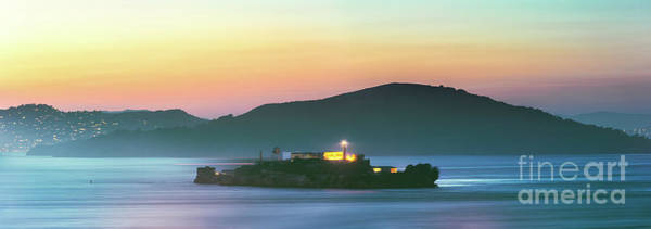 Wall Art - Photograph - Alcatraz Island In The Bay At Sunset, San Francisco, Usa by Matteo Colombo