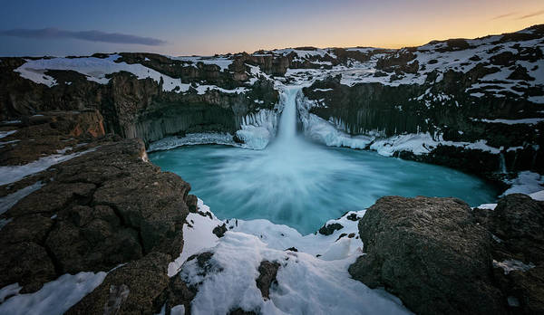 Photograph - Aldeyjarfoss Waterfall Iceland II by Joan Carroll