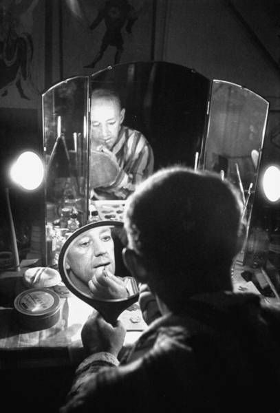 Make Up Photograph - Alec Guinness by Peter Stackpole