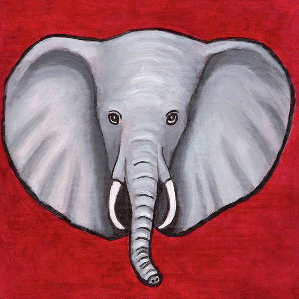Wall Art - Painting - Alephant by Laura Zoellner