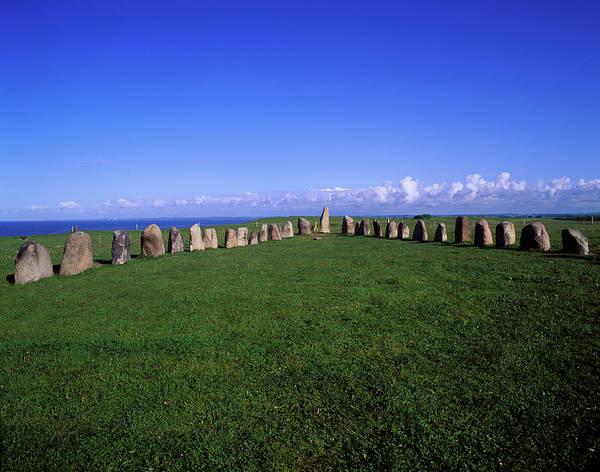 Skane Photograph - Ales Stenar Megalithic Monument, Sweden by Hans-peter Merten