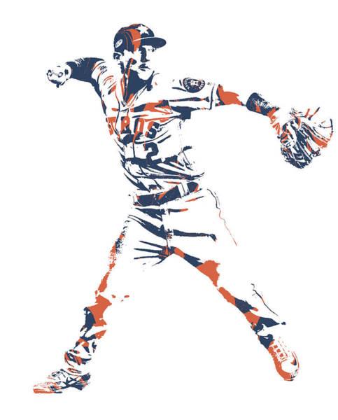 Wall Art - Mixed Media - Alex Bregman Houston Astros Pixel Art 10 by Joe Hamilton