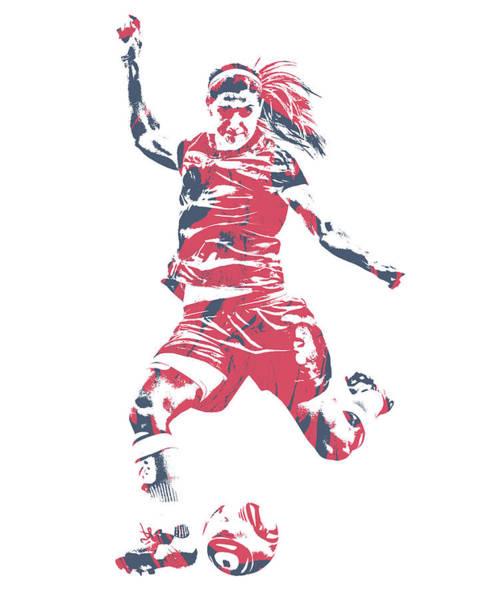 Wall Art - Mixed Media - Alex Morgan Usa Soccer Pixel Art 1 by Joe Hamilton
