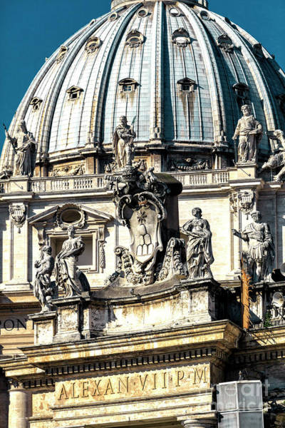 Photograph - Alexan At St. Peter's Basilica In Vatican City by John Rizzuto