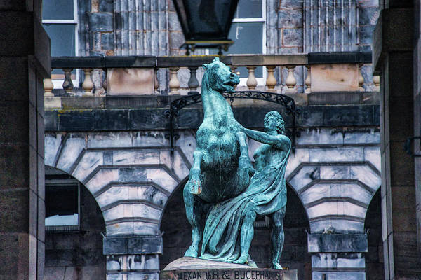 Wall Art - Photograph - Alexander And Bucephalus - Edinburgh Scotland by Bill Cannon