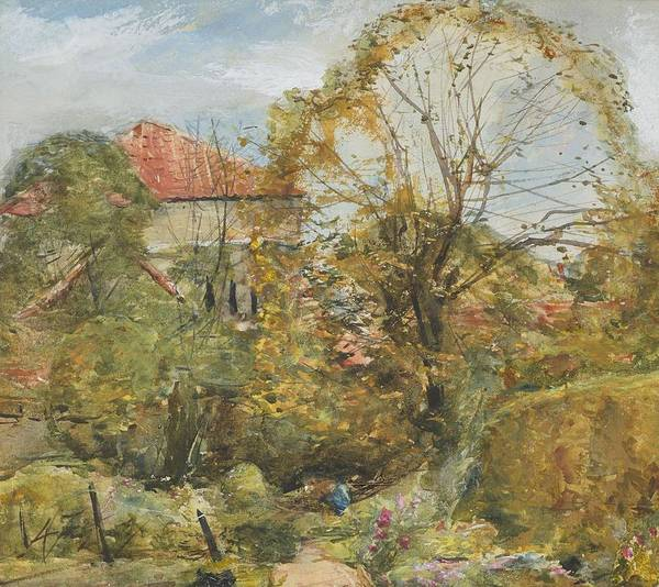 Wall Art - Painting - Alexander Fraser, The Younger, October's Workmanship To Rival May by Alexander Fraser