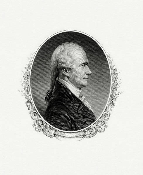Matter Painting - Alexander Hamilton by The Bureau of Engraving and Printing