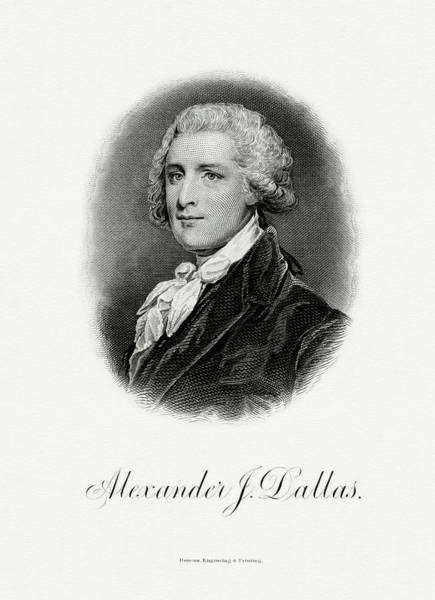 Matter Painting - Alexander J. Dallas by The Bureau of Engraving and Printing