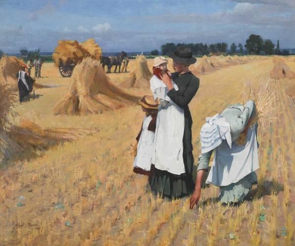 Wall Art - Painting - Alexander Mann, R.o.i. 1853-1908 The Gleaners by Alexander Mann
