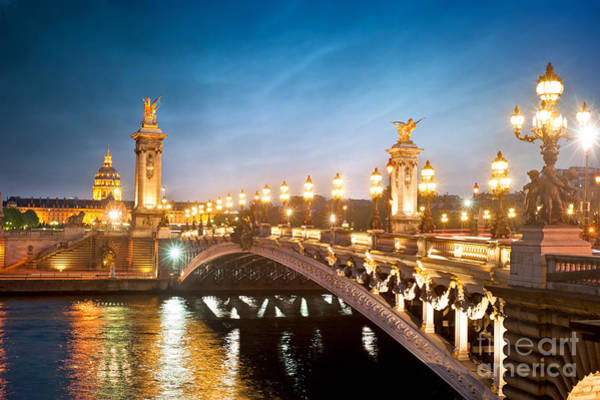 Gloomy Wall Art - Photograph - Alexandre 3 Bridge - Paris - France by Production Perig