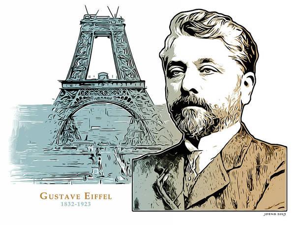 Wall Art - Digital Art - Alexandre Gustave Eiffel by Greg Joens