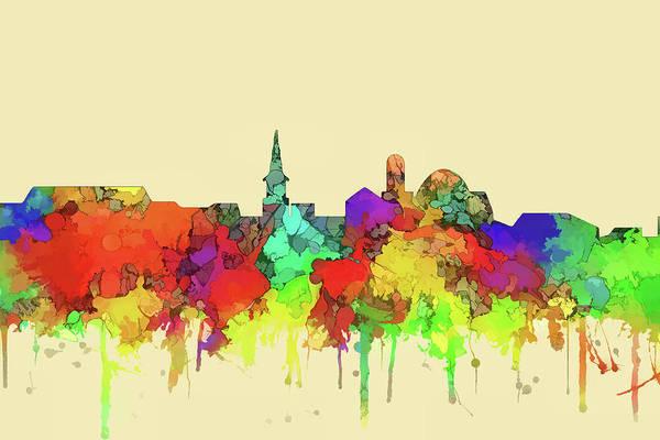 Wall Art - Digital Art - Alexandria Skyline Watercolor 2 by Marlene Watson