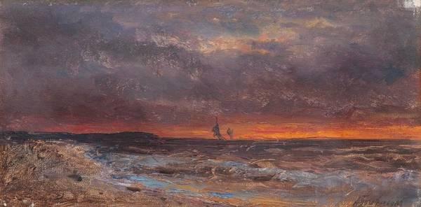 Wall Art - Painting - Alexei Petrovich Bogoljuboff, The Sea At Sunset by Alexei Petrovich Bogoljuboff
