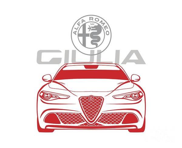 Digital Art - Alfa 2017 Giulia by Rick Andreoli