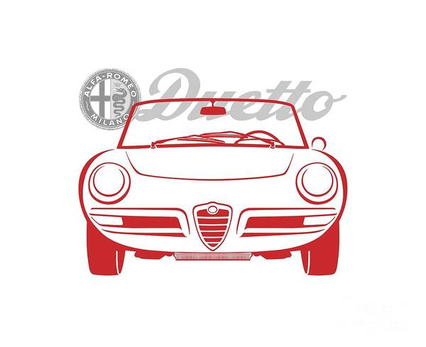 Alfa Duetto Spider-2 Art Print