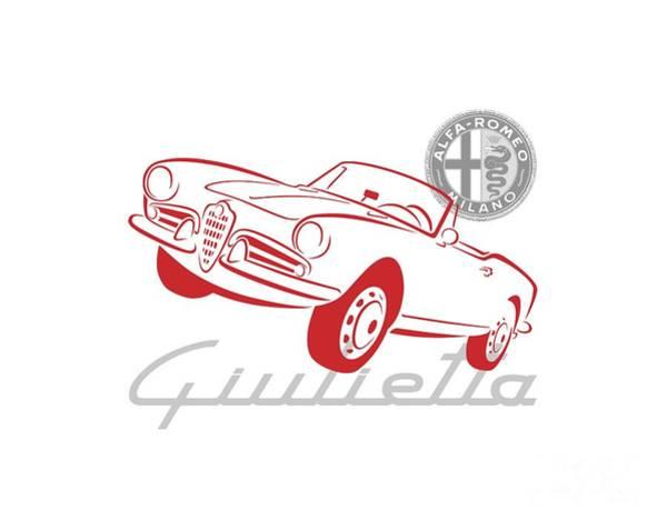 Digital Art - Alfa Giulietta Spider-1 by Rick Andreoli