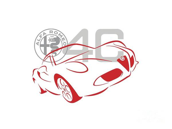 Digital Art - Alfa Romeo 4c-1 by Rick Andreoli