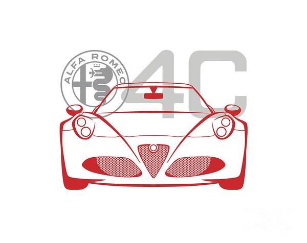 Digital Art - Alfa Romeo 4c-2 by Rick Andreoli