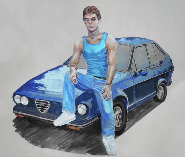 Wall Art - Painting - Alfa Romeo Dude by Irina Sztukowski