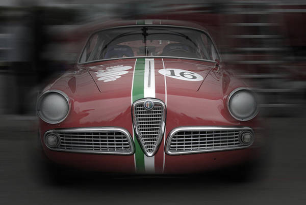 Wall Art - Pyrography - Alfa Romeo Laguna Seca by Naxart Studio