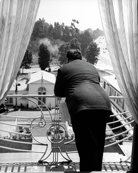 Photograph - Alfred Hitchcock by Peter Stackpole