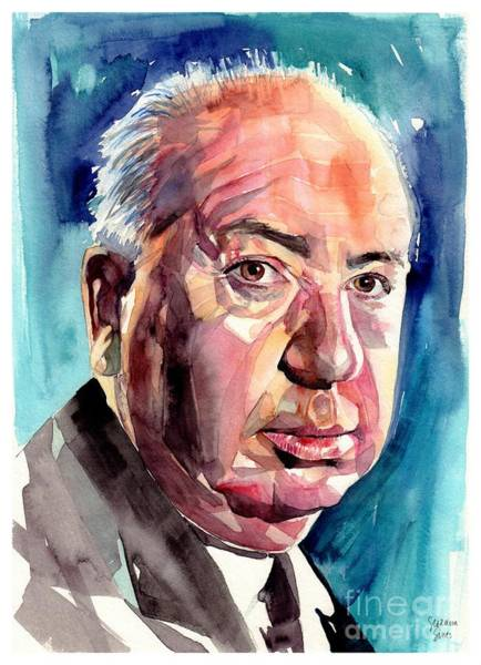 Wall Art - Painting - Alfred Hitchcock Portrait by Suzann Sines