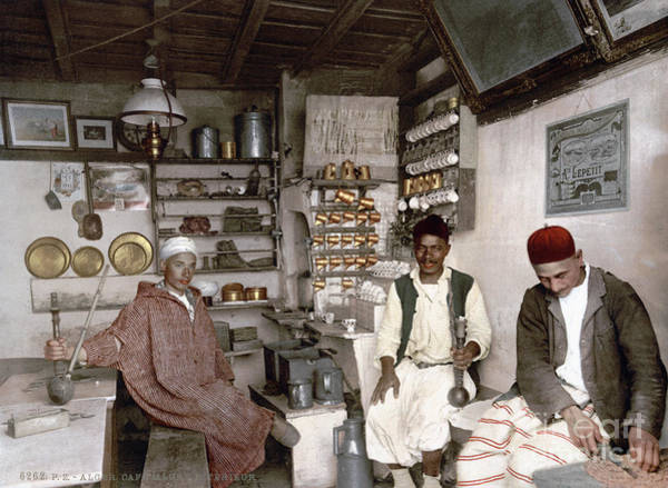 Photograph - Algerian Coffee House, C1899 by Granger