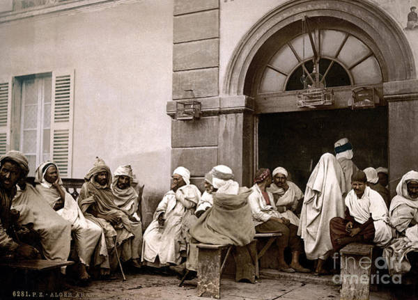 Photograph - Algiers Cafe, C1899 by Granger
