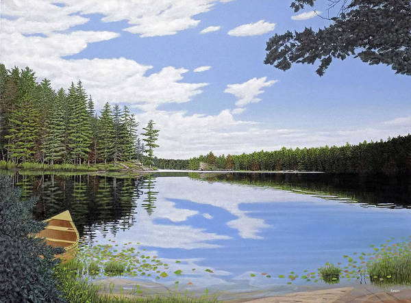 Painting - Algonquin Portage by Kenneth M Kirsch