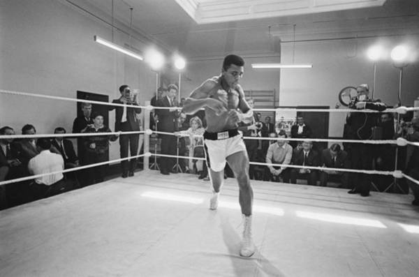 Boxing Photograph - Ali In Training by R. Mcphedran