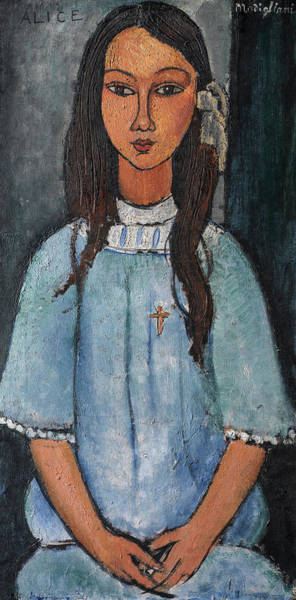 Wall Art - Painting - Alice, 1918 by Amedeo Clemente Modigliani