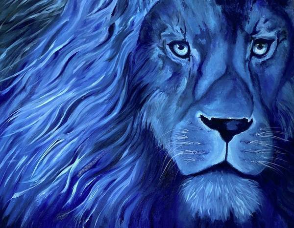 B B King Wall Art - Painting - Alice B Landrum Lion by Althia Prinsloo
