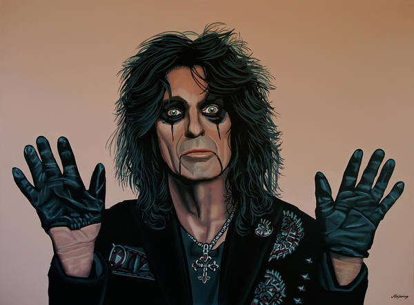Painting - Alice Cooper Painting 2 by Paul Meijering