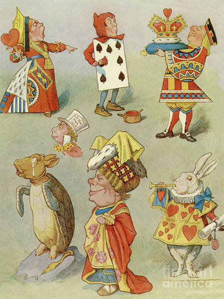 Wall Art - Drawing - Alice In Wonderland Characters by John Tenniel
