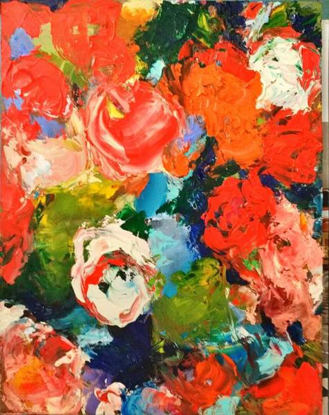 Painting - Alice Wonderland Roses by Constance Paul