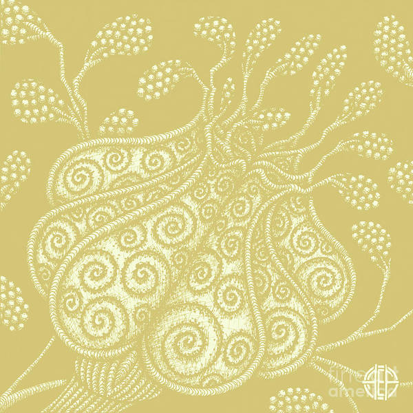 Drawing - Alien Bloom 25 Golden Wheat by Amy E Fraser