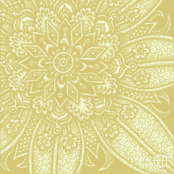 Drawing - Alien Bloom 27 Golden Wheat by Amy E Fraser