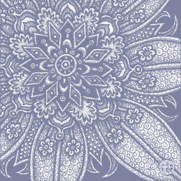 Drawing - Alien Bloom 27 Modest Mauve by Amy E Fraser