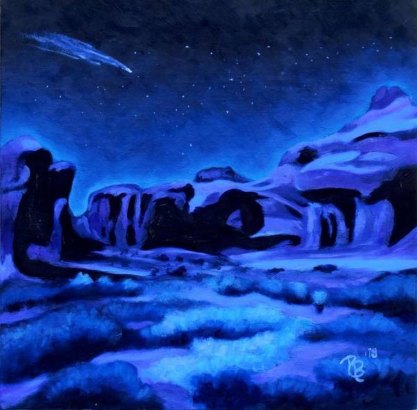 Star Formation Painting - Alien Landscape by Rachel Beck